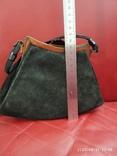 Старинная сумочка черный бархат, фото №6