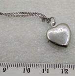 Цепочка с кулоном в виде Сердечка Серебро 925, фото №4