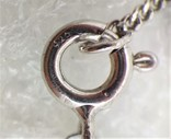 Цепочка с кулоном в виде Сердечка Серебро 925, фото №10