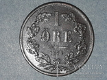 Швеция 1 эре 1872 года  буквы L.A. под бюстом, фото №3