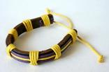 Кожаный браслет на завязке, фото №2