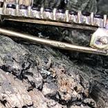Винтажная серебряная брошь с богемскими гранатами, Чехия, фото №9
