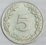 5 миллимов 1960 г. Тунис, фото №3