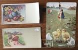 Старинные Пасхальные открытки 3 штуки, фото №2
