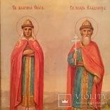 Икона Святые Ольга и Владимир, фото №5