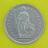 Швейцарія 1 франк, 1959р. Срібло., фото №3