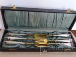 Набор вилок в футляре. Серебро, латунь., фото №3