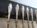 Набор вилок в футляре. Серебро, латунь., фото №8