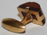 Янтарная запонка СССР,некомплект (Калининградский янтарь,ЯК7) 3,2 грамма, фото №5