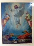 Антикварная Икона Большая - Картина под Стеклом Резная Деревянная Рама, фото №4