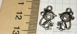Подвески, талисман, амулет мышка / брелоки, підвіски, фурнітура, 3 шт. + бонус, фото №4