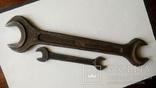 Два немецких гаечных рожковых ключа Tona 0610 30 мм 24 мм 12 мм 11 мм, фото №4