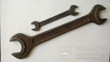 Два немецких гаечных рожковых ключа Tona 0610 30 мм 24 мм 12 мм 11 мм, фото №5