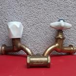 Кран латунный водяной, 3 шт, СССР, фото №2