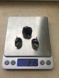 Серебрянный гарнитур с ониксом, фото №2