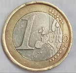 1 евро 2002 г. Италия, фото №3