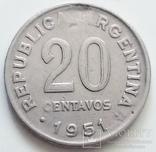 20 сентаво 1951 г. Аргентина, фото №3
