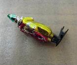 Елочная игрушка фигурная стеклянная на прищепке, фото №4
