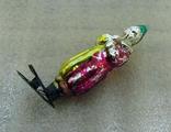 Елочная игрушка фигурная стеклянная на прищепке, фото №5