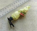 Елочная игрушка фигурная стеклянная на прищепке, фото №2