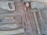 Набір старих столярних інструментів., фото №7
