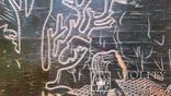 """Гравюра на дереві """"Зустріч"""", Н35,7х43,7 см, фото №7"""