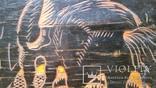 """Гравюра на дереві """"Зустріч"""", Н35,7х43,7 см, фото №8"""