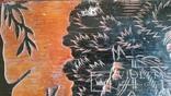 """Гравюра на дереві """"Зустріч"""", Н35,7х43,7 см, фото №9"""