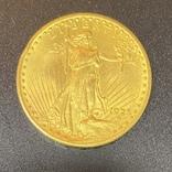 Золотая монета 20$ Двойной Орёл, 1925г, фото №2