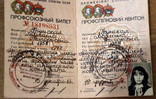 Трудовая книжка (1955) и два профсоюзных билета + справка, фото №9