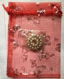 Дресс-клип, зажим для шарфа с булавкой (с жемчужинками) / дрес кліп з перлинками + бонус, фото №6