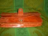 Клатч-сумочка трансформер кожаный. винтажный 40-50е годы, фото №5