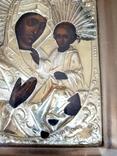 Икона Богородица.  Дмитрий Орлов 1846 г. Финифти, золочение., фото №4