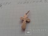 Серебряный крестик в позолоте, 925*, фото №4
