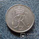 1  эре  1966  Дания  цинк   ($2.1.23)~, фото №2