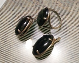 Набор Серьги и кольцо серебряные 925 пробы, фото №5