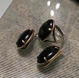 Набор Серьги и кольцо серебряные 925 пробы, фото №6