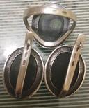 Набор Серьги и кольцо серебряные 925 пробы, фото №9