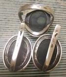 Набор Серьги и кольцо серебряные 925 пробы, фото №10