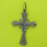 Хрест Срібло 925 проба. 3,21 грама., фото №3