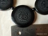 Чёрное колье иллюзия пластик, фото №5