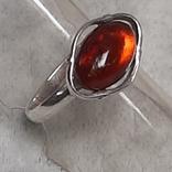 Кольцо р.17,5   Калининградский янтарь, фото №3