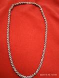 Цепочка плетение верёвка серебро, фото №2
