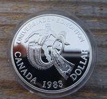 Канада 1 доллар 1983 г. Серебро, фото №2