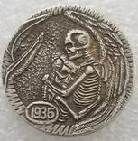 Hobo Nickel монета США # 613 Копия, фото №2
