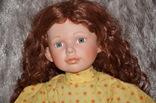 Большая (65см.) номерная фарфоровая кукла NJSF. Тяжёлая., фото №7