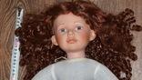 Большая (65см.) номерная фарфоровая кукла NJSF. Тяжёлая., фото №11