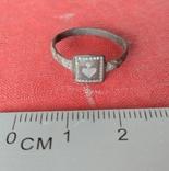 Перстень религиозный  с сердечком 19 век