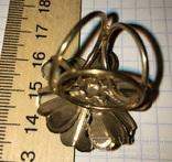Кольцо, зажим для шарфа – Цветок + бонус, фото №6