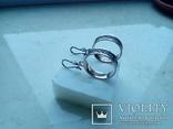 Сережки підвіски срібні СССР  8,6 г, фото №3
